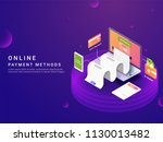 Isometric  Online Payment Ways...