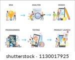 mobile app development set.... | Shutterstock .eps vector #1130017925