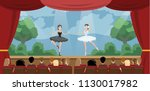 theater ballet perfomance. two... | Shutterstock .eps vector #1130017982