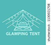 tent line icon for glamping... | Shutterstock .eps vector #1130021708