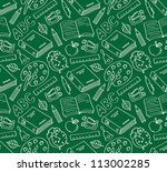 Stock vector school seamless pattern 113002285