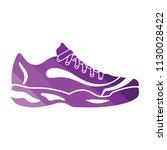 tennis sneaker icon. flat color ...   Shutterstock .eps vector #1130028422