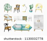 collection of stylish... | Shutterstock .eps vector #1130032778