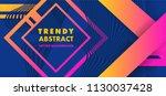 hipster modern geometric... | Shutterstock .eps vector #1130037428