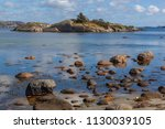 numerous stony islands and bays ... | Shutterstock . vector #1130039105