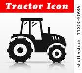 illustration of black tractor... | Shutterstock .eps vector #1130040986