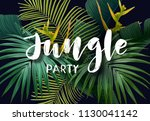 summer tropical poster with... | Shutterstock .eps vector #1130041142