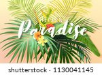 bright exotic summer design... | Shutterstock .eps vector #1130041145