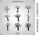 halloween tree icon vector   Shutterstock .eps vector #1130041352