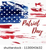 usa patriot day background.... | Shutterstock .eps vector #1130043632