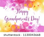 happy  grandparents day ...   Shutterstock .eps vector #1130043668