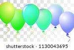 vibrant realistic helium vector ... | Shutterstock .eps vector #1130043695
