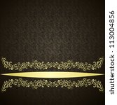 luxury background decorated a... | Shutterstock .eps vector #113004856
