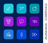 modern  simple vector icon set... | Shutterstock .eps vector #1130051612