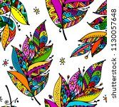feathers  seamless pattern for... | Shutterstock .eps vector #1130057648