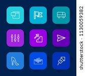 modern  simple vector icon set... | Shutterstock .eps vector #1130059382
