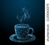 coffee cup. tea cup. vector... | Shutterstock .eps vector #1130063375