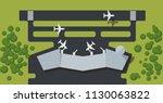 airport aerial view vector... | Shutterstock .eps vector #1130063822