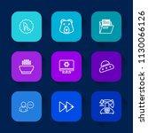 modern  simple vector icon set... | Shutterstock .eps vector #1130066126