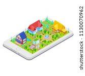 isometric city infrastructure... | Shutterstock .eps vector #1130070962