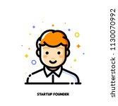male user avatar of startup... | Shutterstock .eps vector #1130070992