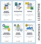 vector set of mobile app... | Shutterstock .eps vector #1130079548