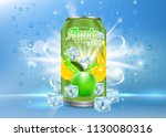 apple tonic aluminum can...   Shutterstock .eps vector #1130080316