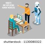 influence of robot based... | Shutterstock .eps vector #1130080322