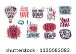 collection of romantic... | Shutterstock .eps vector #1130083082