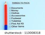 traveler list close up | Shutterstock . vector #113008318