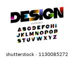 vibrant color modern font ... | Shutterstock .eps vector #1130085272