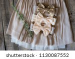 headband with bow for little... | Shutterstock . vector #1130087552