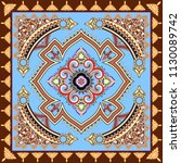 bandanna with  decorative curls ... | Shutterstock .eps vector #1130089742