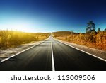 Road In North Mountains In...