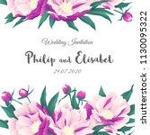 vintage wedding invitation...   Shutterstock .eps vector #1130095322