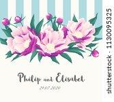 vintage wedding invitation... | Shutterstock .eps vector #1130095325