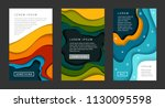 set of vertical banners... | Shutterstock .eps vector #1130095598