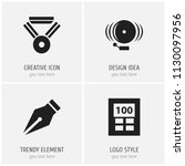set of 4 editable science icons....