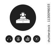 set of 5 editable melody icons. ...