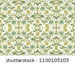 seamless vector floral ornament ... | Shutterstock .eps vector #1130105105