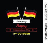 germany happy unity day  3 rd... | Shutterstock .eps vector #1130105792
