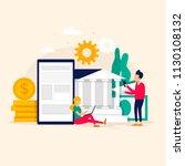 internet bank  online payment ... | Shutterstock .eps vector #1130108132