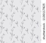 cotton bud leaf flower vector...   Shutterstock .eps vector #1130117825