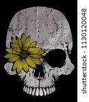 skull illustration   a mark of... | Shutterstock .eps vector #1130120048