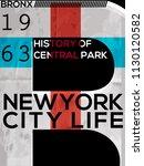 nyc  new york  stock vector... | Shutterstock .eps vector #1130120582