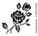 flower motif design | Shutterstock .eps vector #1130124332