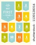 vector set of stickers for... | Shutterstock .eps vector #1130128316