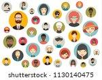 mega set of persons  avatars ... | Shutterstock .eps vector #1130140475