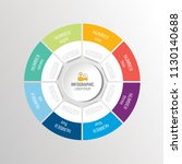 circle  round infographic... | Shutterstock .eps vector #1130140688