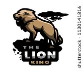 lion king of beasts  logo ... | Shutterstock .eps vector #1130141816